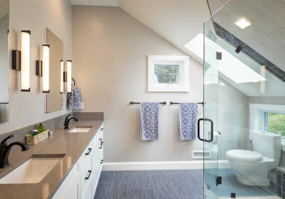 Bathroom design by Aspen Design Studio, Durango Colorado, Interior design firm.